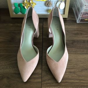 1. State Block heels Dusty Rose Pumps Size 7